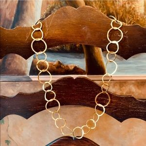 ✨🌟Gold Free Form Circle Chain Link Necklace ✨